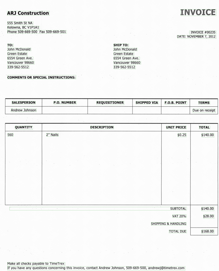 Invoice Database Report Presentation Solutions Wanted FMForumscom - Process server invoice template