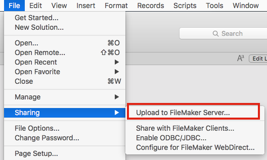 Can't upload new solution to server - FileMaker Server 16