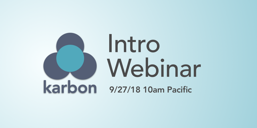Karbon Webinar – Getting Started